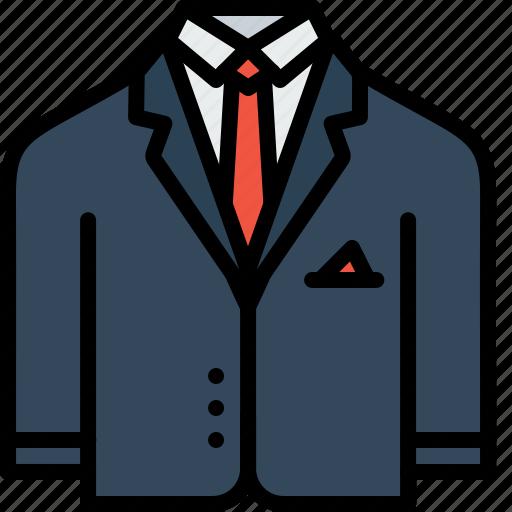 blazer, dress, gentleman, suit, valentine icon