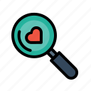 find, heart, love, relation, search, true, valentine icon