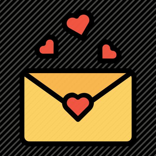 communication, envelope, letter, love, mail, message, valentine icon
