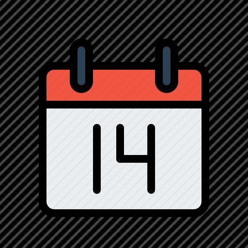 calendar, celebrate, day, february, love, valentine icon