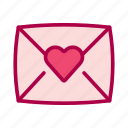 envelope, love, message, romantic, valentine icon