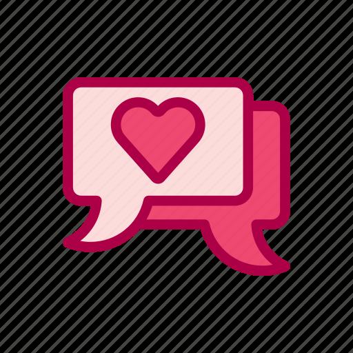chat, love, message, romance, romantic, valentine, wedding icon