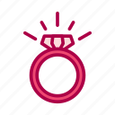 diamond, engagement, love, ring, valentine, wedding icon