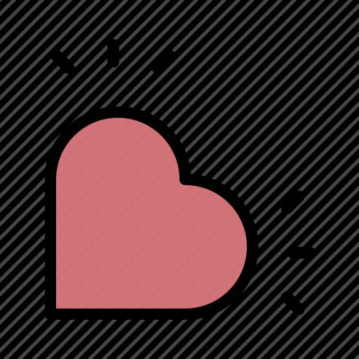 heart, love, lovers, romance, valentine icon