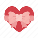 box, gift, heart, love, present, romantic, valentine icon