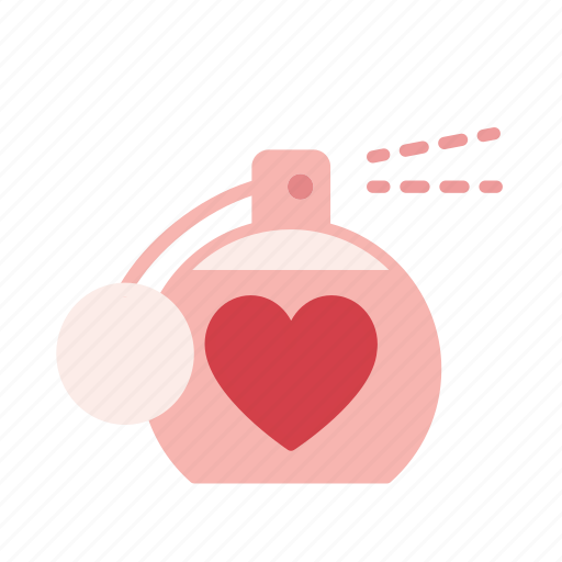 gift, heart, perfume, present, romantic, valentine, valentines icon