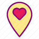 heart, location, locations, love, valentine