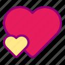 girlfriend, heart, love, married, valentine icon
