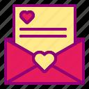 heart, letter, love, open, valentine
