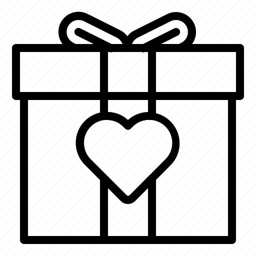 couple, gift, heart, love, valentine icon