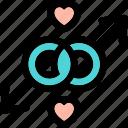 heart, hearts, cupid, lovers, cupid heart, love, valentine cupid icon