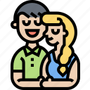 love, romance, boyfriend, girlfriend, couple icon