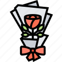 romantic, flower, bouquet, valentine, flora