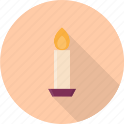 burning, candle, fire, flame, light, valentine icon