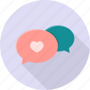 app, chat, chatting, dialog, valentine icon