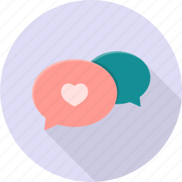app, chat, chatting, dialog, valentine icon