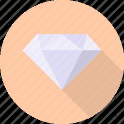 crystal, diamond, gemstone, jewel, precious, ring, valentine icon