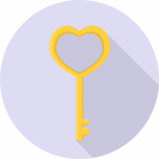 heart, key, lock, sign, valentine icon