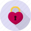 heart, keyhole, lock, romance, sign, valentine icon