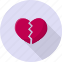 conflict, damaged, divorce, heartbreak, valentine icon