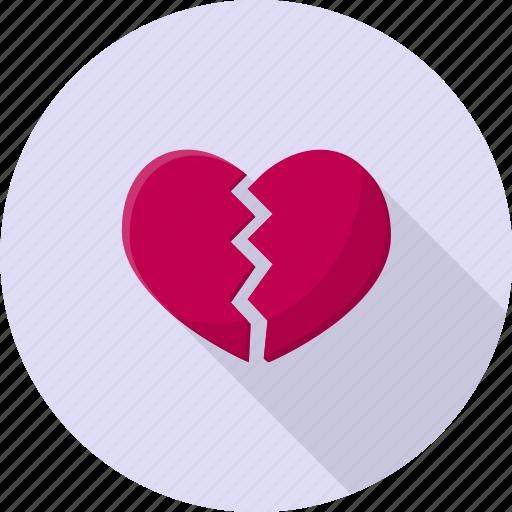 conflict, damaged, divorce, heartbreak, valentine icon