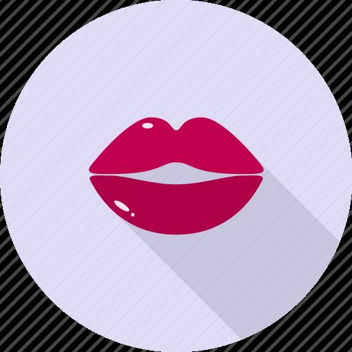 girl, kiss, lips, lipstick, mouth, valentine icon