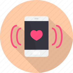 call, connection, love, romance, talk, telephone, valentine icon
