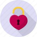 heart, lock, opened, valentine icon