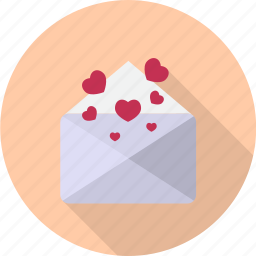 letter, opened, paper, post, postcard, send, valentine icon