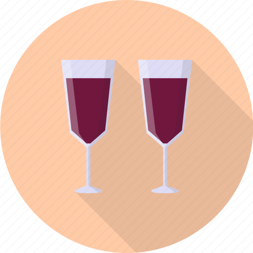 alcohol, bottle, drink, glass, valentine, wine icon