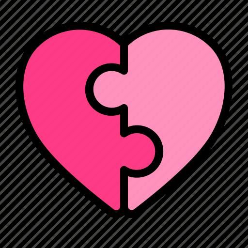 Heart, love, puzzle, romance, valentine, wedding icon - Download on Iconfinder