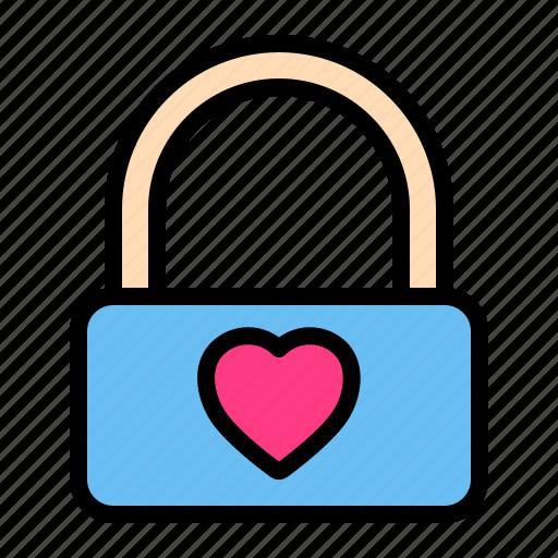 Lock, love, romance, valentine, wedding icon - Download on Iconfinder