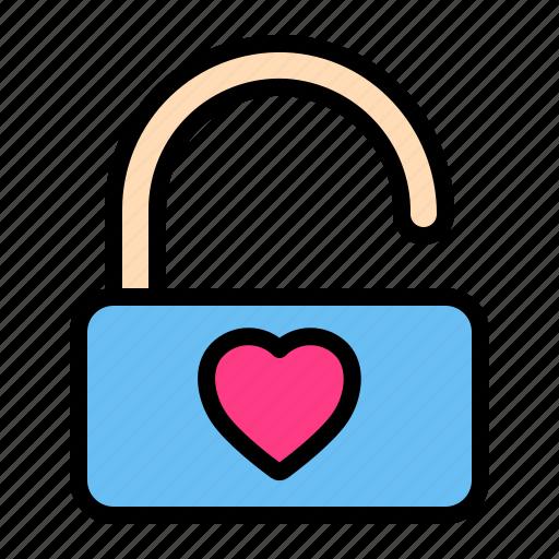 Love, romance, unlock, valentine, wedding icon - Download on Iconfinder