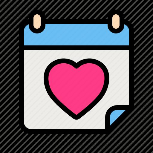 Calender, date, love, romance, valentine, wedding icon - Download on Iconfinder