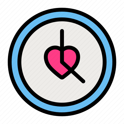 clock, love, romance, time, valentine, wedding icon