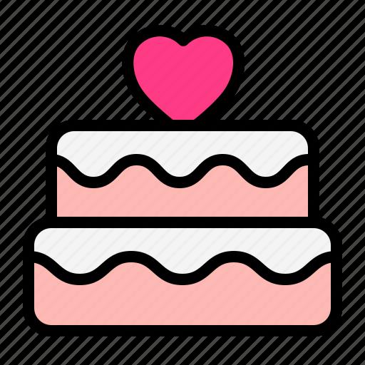 Cake, love, romance, valentine, wedding icon - Download on Iconfinder