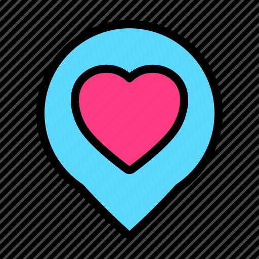 Location, love, pin, romance, valentine, wedding icon - Download on Iconfinder