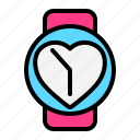 clock, love, romance, tome, valentine, watch, wedding icon