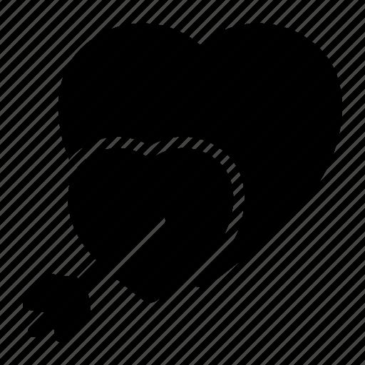 Arrow, heart, love, match, romance, valentine, wedding icon - Download on Iconfinder