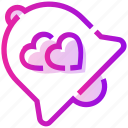 bell, heart, ring, valentine day icon