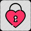 heart, lock, valentine day