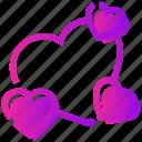 heart, love, romantic, valentine day icon
