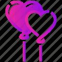balloon, heart, valentine day