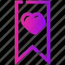 bookmark, favorite, heart, valentine day