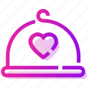 dinner, heart, restaurant, valentine day icon