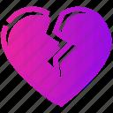 breakup, broken, heart, valentine day