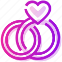 engagement, heart, marriage, ring, valentine day icon