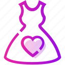 dress, female, heart, valentine day