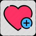 add, heart, plus, valentine day