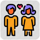 couple, love, relationship, valentine day icon